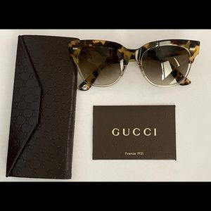 Gucci Spotted Havana Gradient Sunglasses